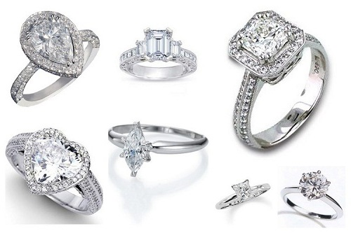 unique engagement rings diamonds